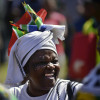 A woman cheers during Freedom Day celebrations in South Africa