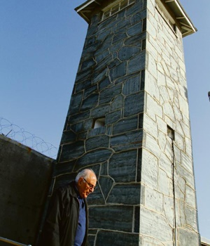 Ahmed Kathrada on Robben Island. [Photo by Benny Gool]