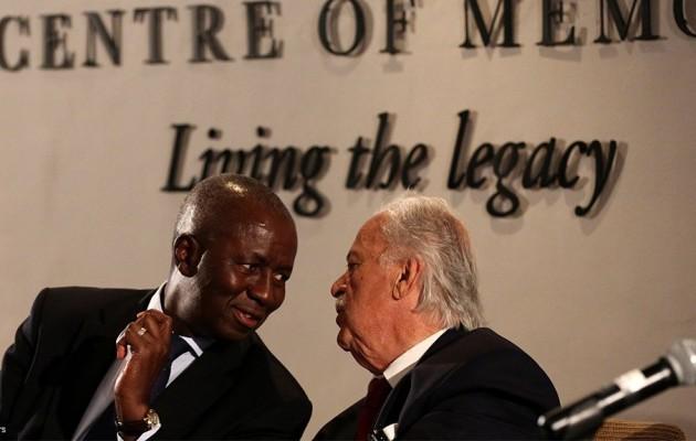 Dikgang Moseneke and George Bizos