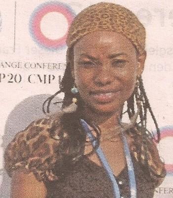 Hindou Oumarou Ibrahim  bei der Klimakonferenz in Lima