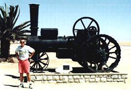 """""""Martin Luther""""-Dampflokomotive in Swakopmund/Namibia: """"Hier steh ich, ... !"""""""