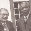 Oom Bey and Madiba in Groote-Schuur in May 1990