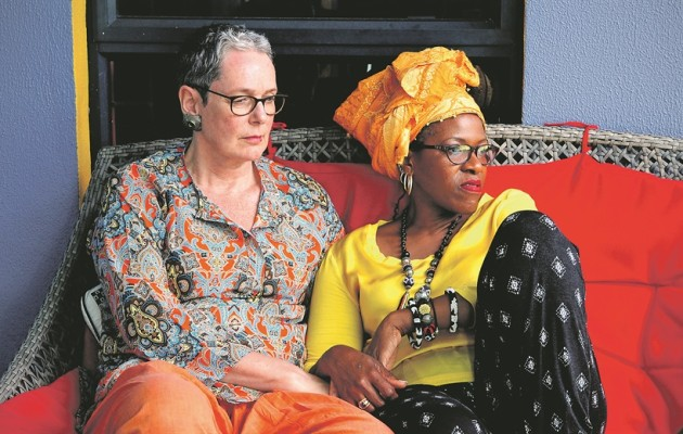 Reverend Canon Mpho Tutu van Furth and her wife Marceline at their home in Milnerton, Cape Town. Picture: Lerato Maduna